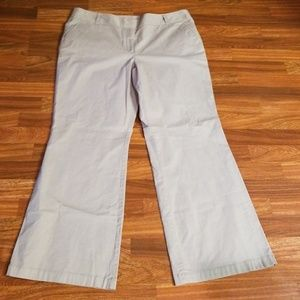 Ann Taylor Gray Signature Fit Khaki Trousers